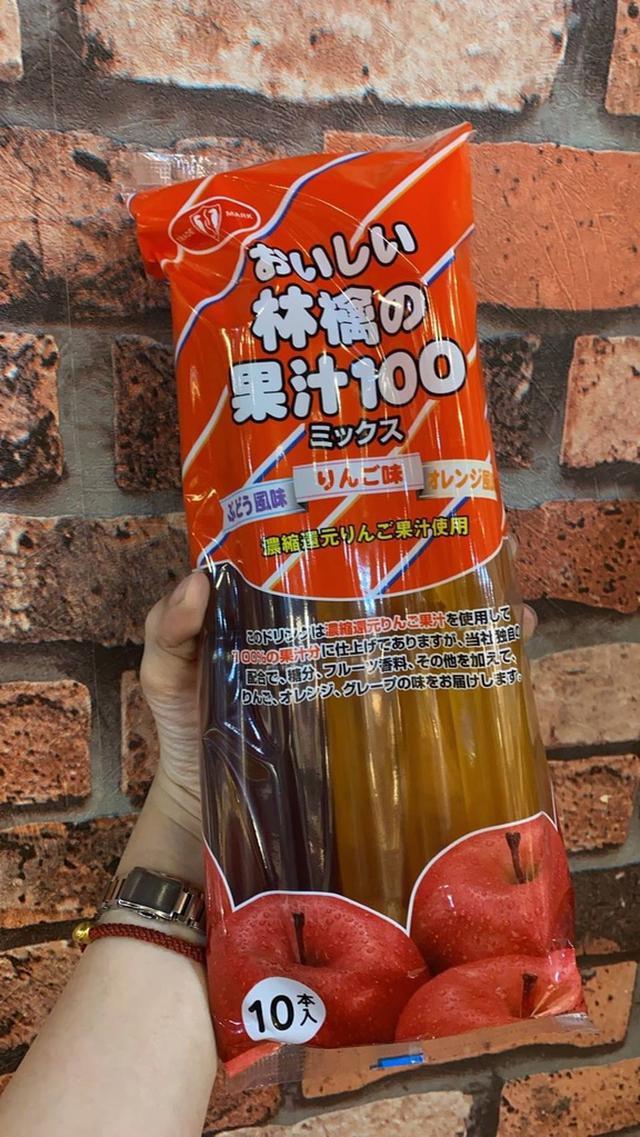 日本蘋果果汁冰棒/10支入