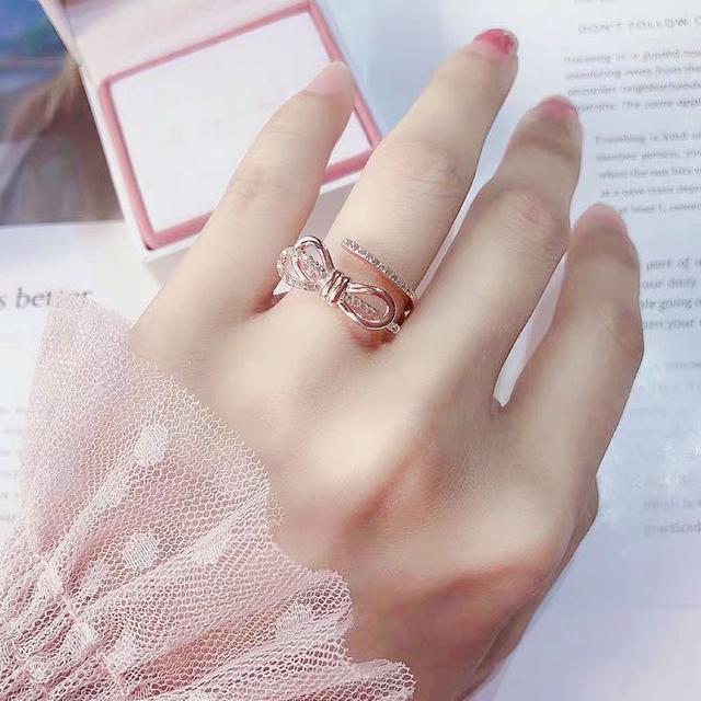 swarovski 同款 輕珠寶風 撞色鑽鑽純銀戒指