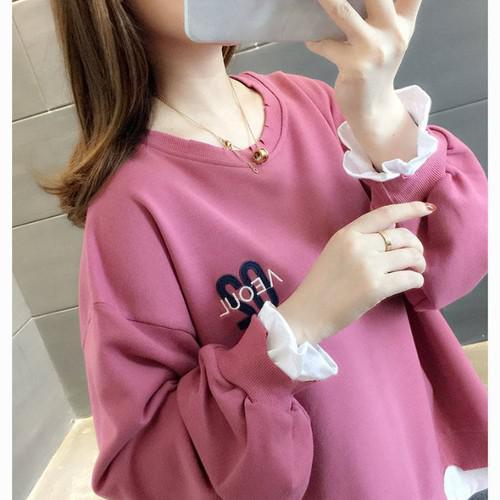 11 流行款 M-2XL 韓版 假兩件衛衣(5色)