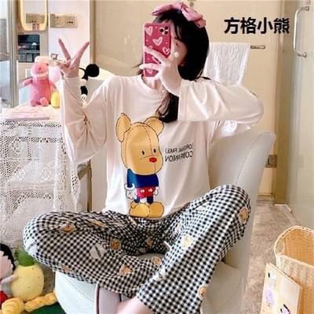 韓版2020新款睡衣秋冬季家居服