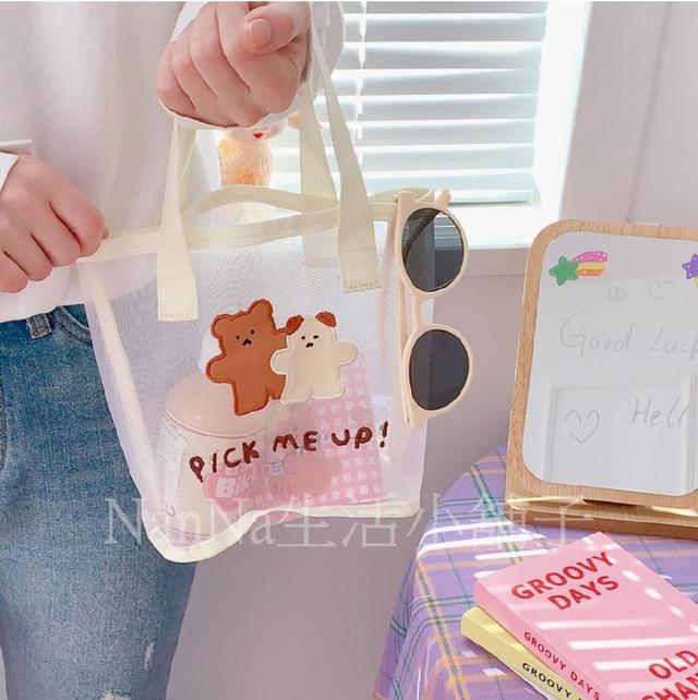 💖預購💖復古小清新網紗手提袋