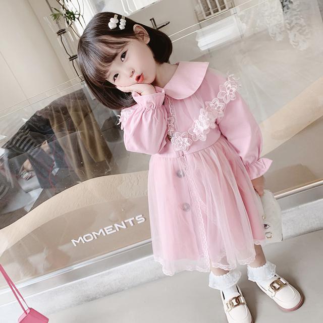 預購🌈新款韓版中小童兒童洋氣中長款秋裝外套