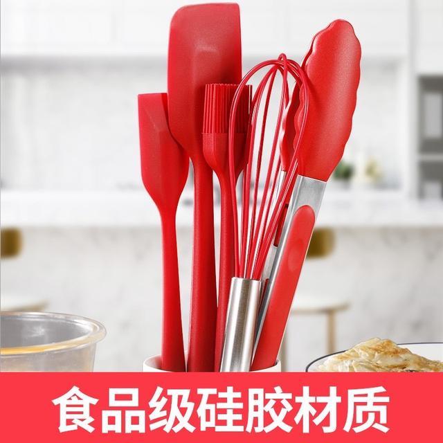 【烘焙工具】 耐高溫一體式硅膠刮刀 烘焙奶油刮板抹刀 蛋糕鏟子烘焙攪拌工具套裝