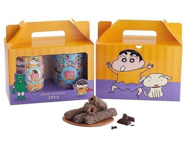 現貨 蠟筆小新 巧克力米香棒棒餅禮盒 (88g*2罐) 2022/07/25 12盒/箱