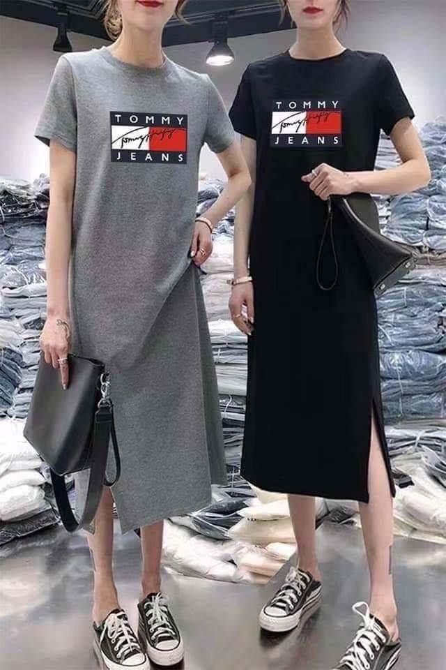 190825002新款ROOTS休閒長款連衣裙