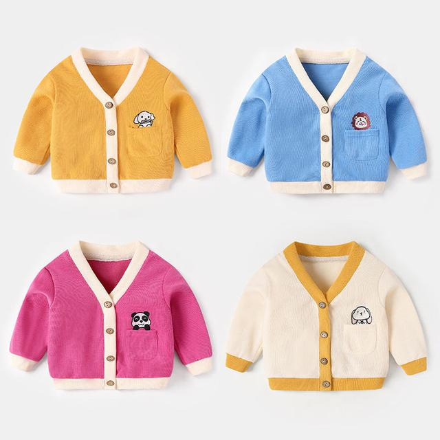 嬰兒開衫春秋外套女寶寶針織上衣秋裝男小童秋款衣服嬰幼兒外衣潮