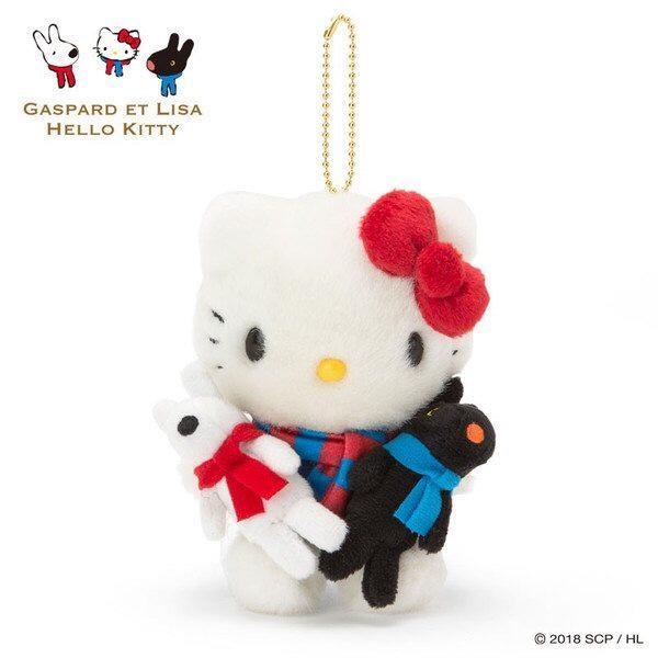 現貨 日本 Hello Kitty  聯名款 卡斯柏與麗莎 吊飾 娃娃 公仔