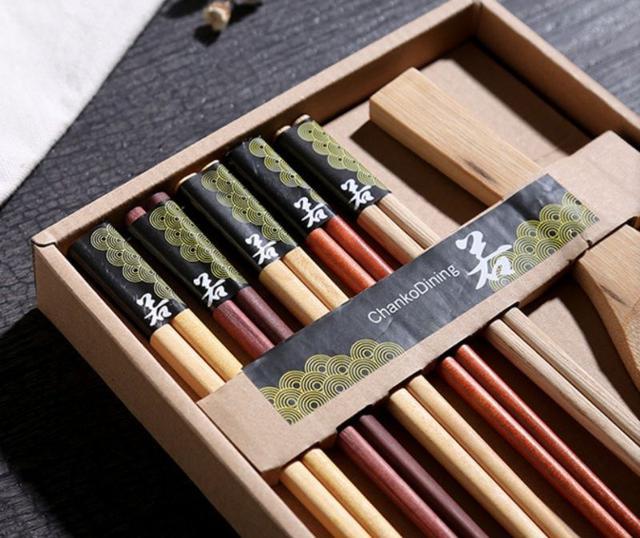 原木精品竹筷套組