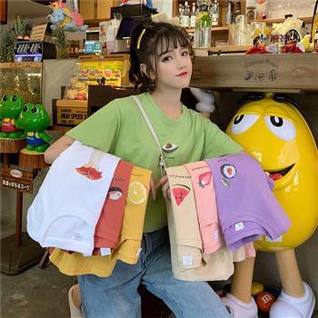 F60293 水果總動員短袖T恤(七色)