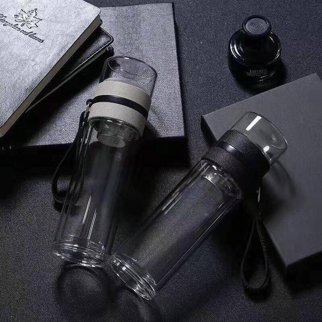 茶水分離雙層耐熱玻璃隨行杯