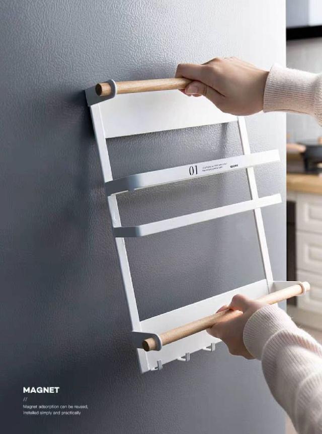 現貨1(預購e)日式磁吸冰箱架