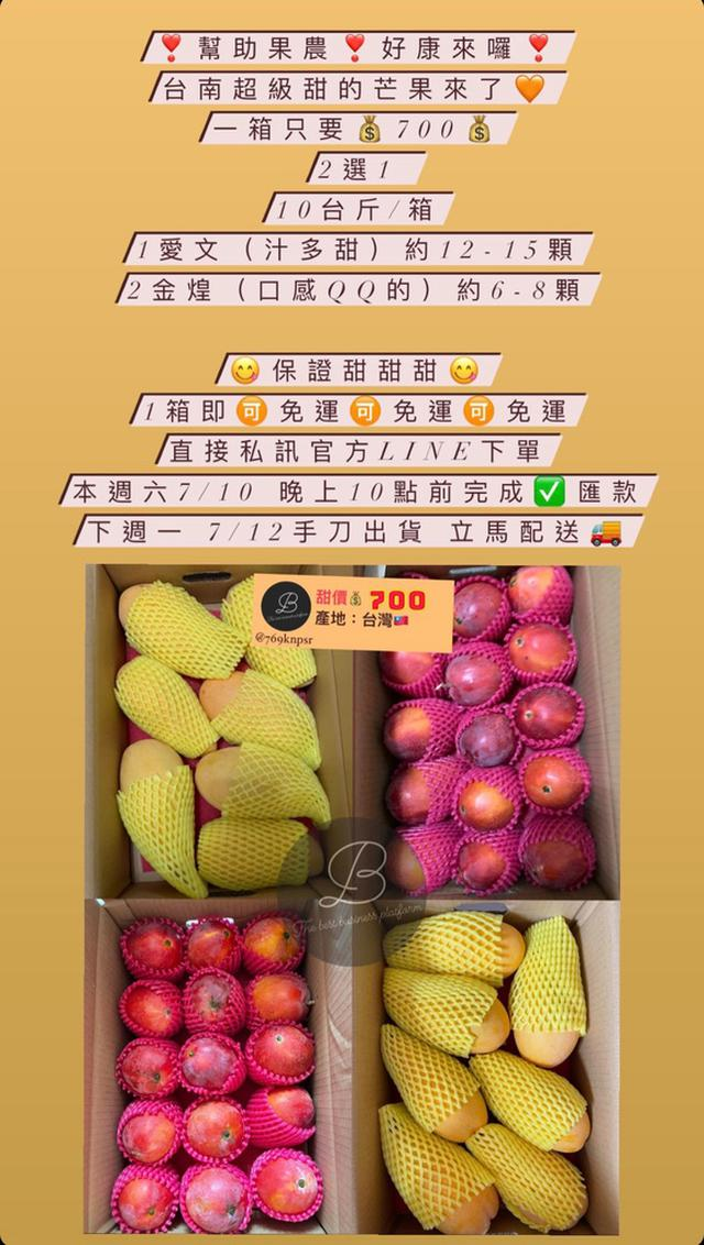 甜到爆 🥭芒果🥭幫助果農愛文、金煌