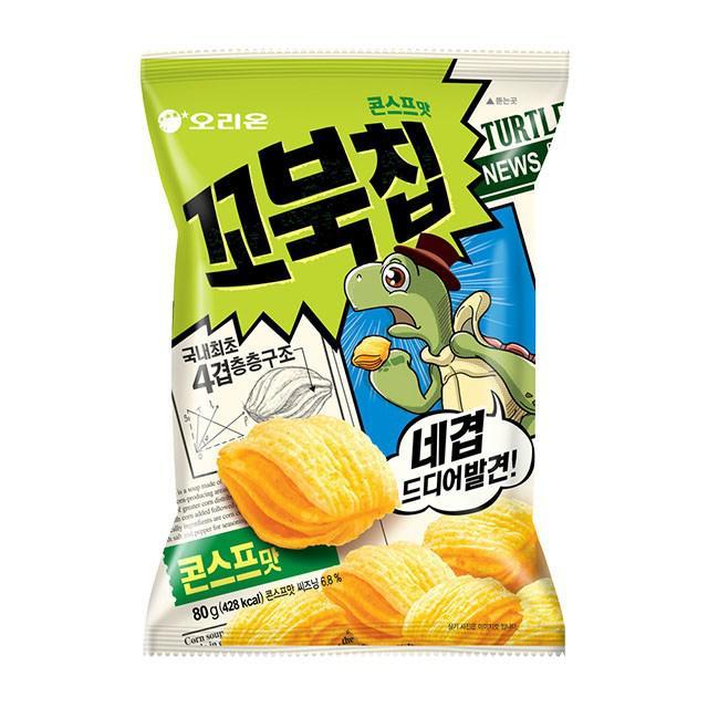 預購~韓國 Orion 烏龜餅乾 玉米濃湯口味 80g