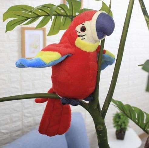 (預購S)可愛鸚鵡會學說話的鸚鵡玩具