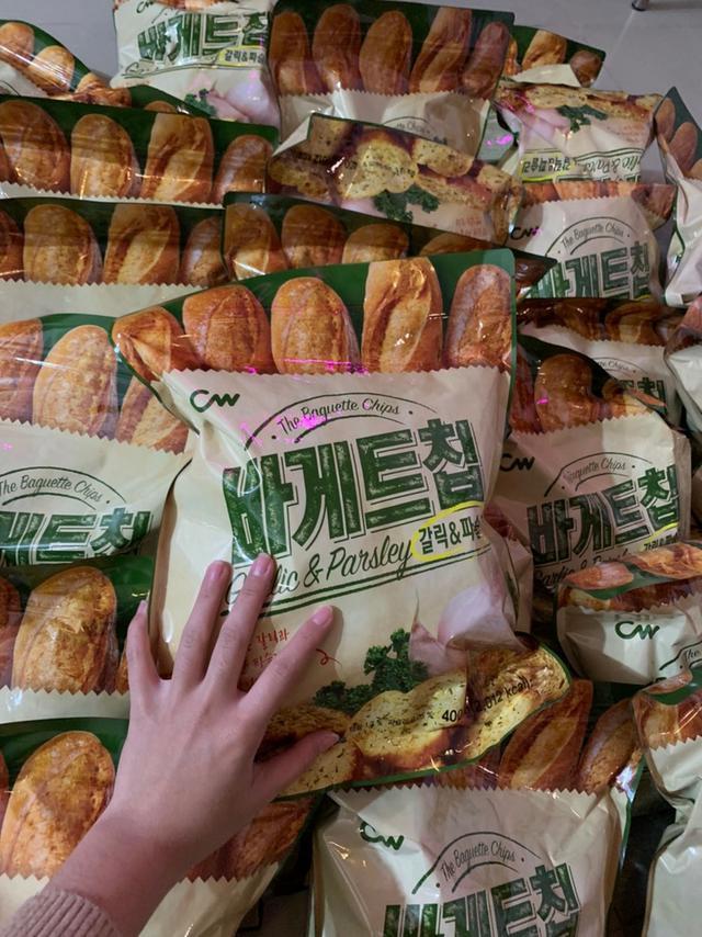 韓國空運CW-香蒜麵包-大蒜餅乾400g