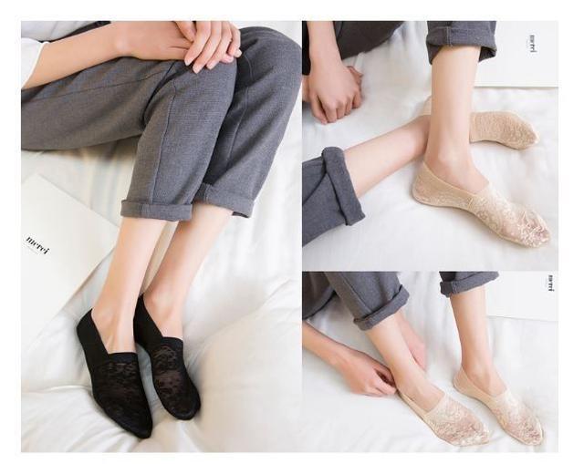 (預購e) 升級款全包式 蕾絲薄款隱形襪❤