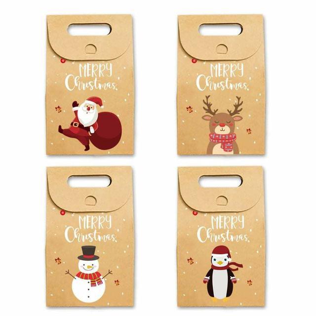 (預購S) G531 - 聖誕節加厚牛皮紙包裝提袋(一組6個)