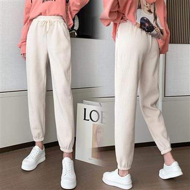 F60402 高腰寬鬆運動褲(兩色)