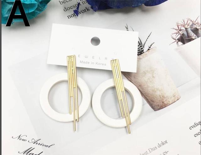 抗過敏鋼針木頭質感耳環
