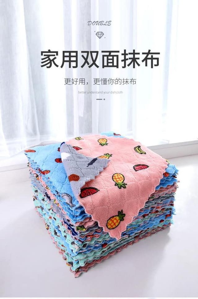 印花珊瑚絨抹布(10條組)