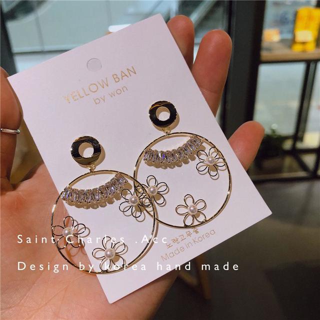 🇰🇷春夏小花鋯石耳環