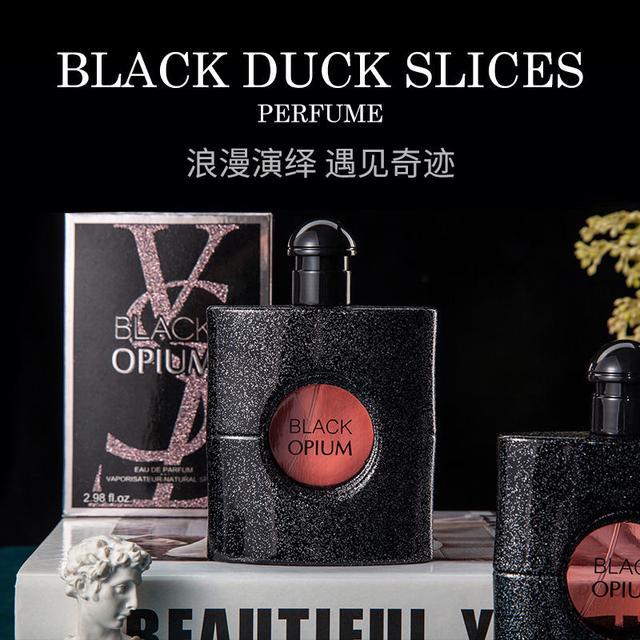 抖音網紅同款持久淡香清新自然反轉少女巴黎學生黑鴉片女士香水