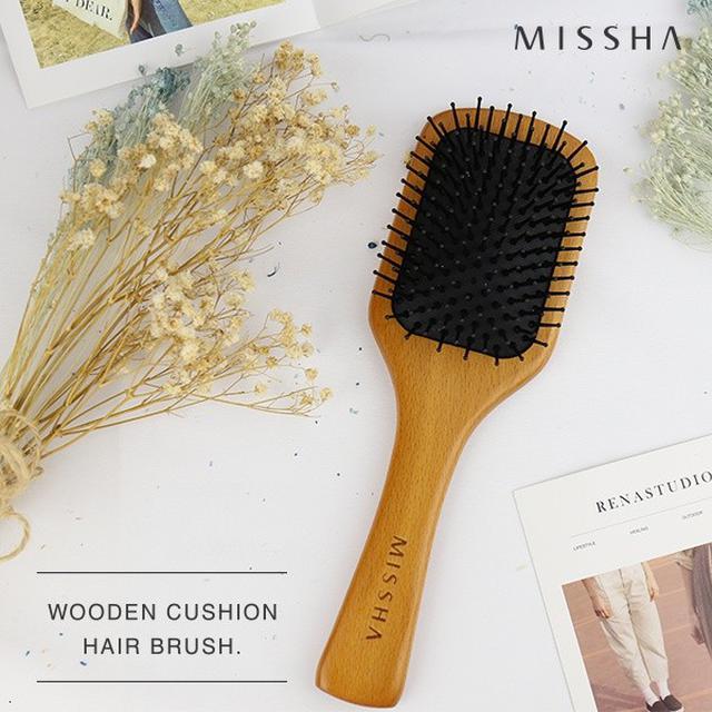 韓國 MISSHA 木質按摩氣囊梳 (貴婦髮梳)