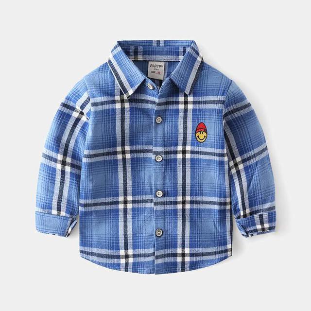 【預購】兒童格子襯衫