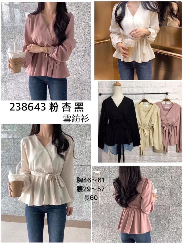五分埔-現貨+預購 #238643  雪紡衫