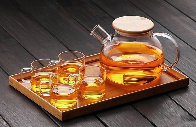 木蓋茶壺套組 茶壺+迷你手把杯*4+木托盤 304不銹鋼加固壺蓋 木蓋壺
