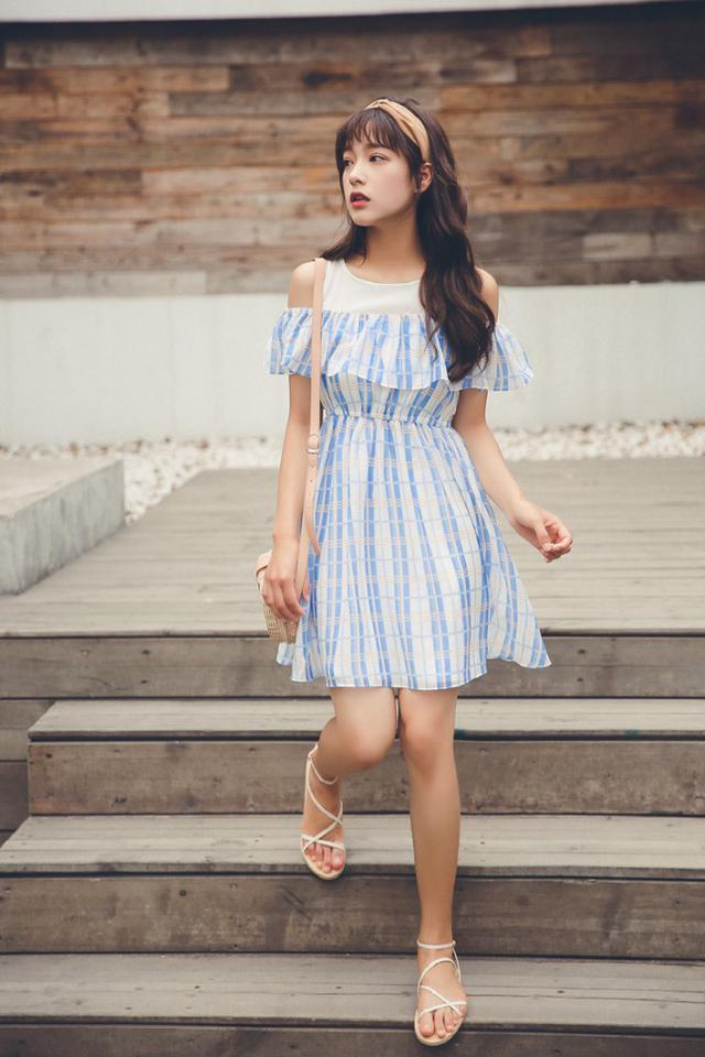【預購】荷葉邊連衣短裙
