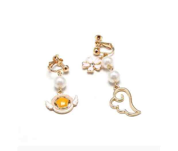 星之杖小櫻可愛珍珠櫻花耳環