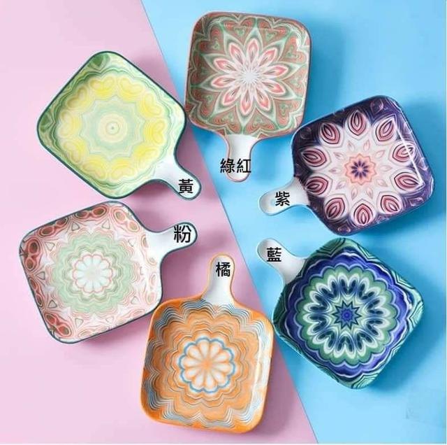 波西米亞陶瓷盤2入-組