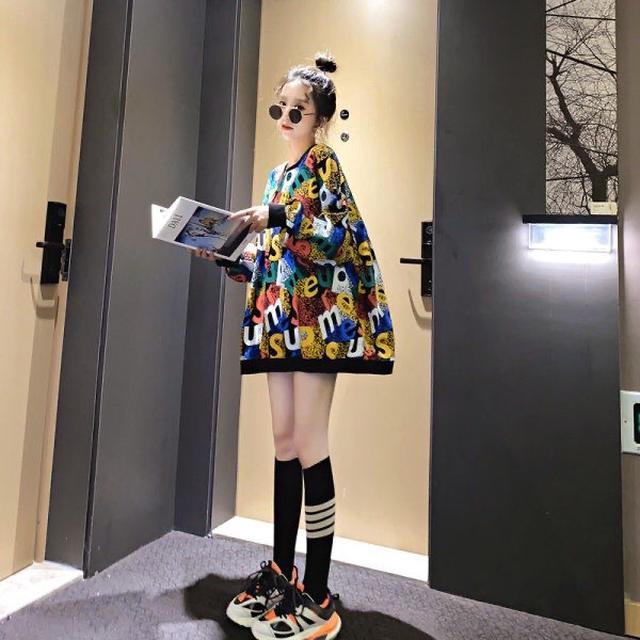 【棉質】衛衣女潮ins秋季寬松長袖衛衣薄款潮