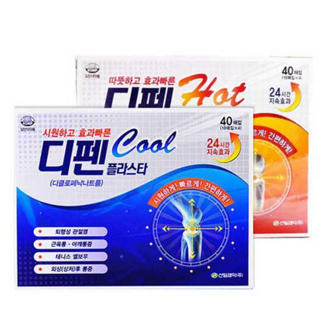 韓國 SINIL PHARM 疲勞貼布 涼感 溫感 40片/盒