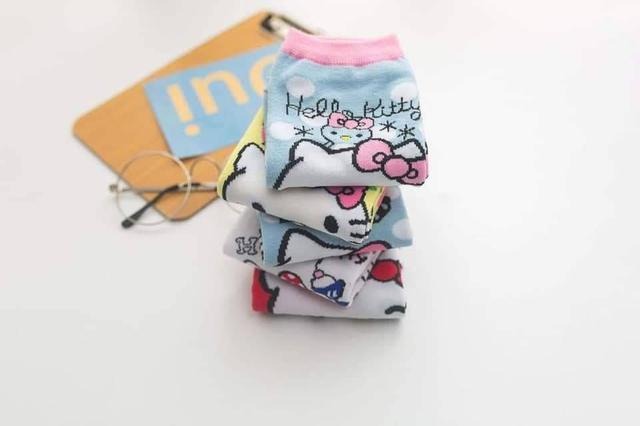 成人款KT凱蒂貓直版襪5雙1組