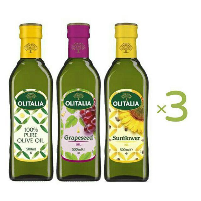 OLITALIA奧利塔 橄欖油 葡萄籽油 葵花油 500ml 共9瓶組 義大利原裝進口