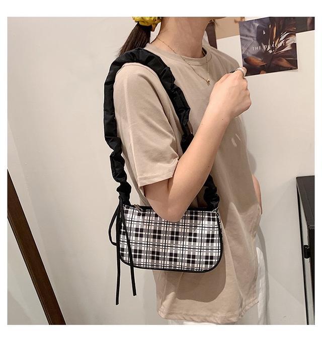 p.in shop-格紋手提包腋下包