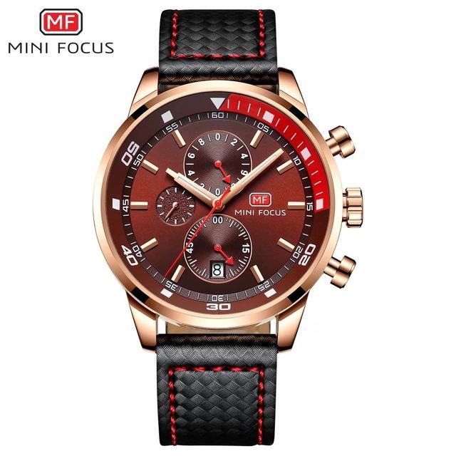 預購 - Mini Focus 精品手錶 酒紅色