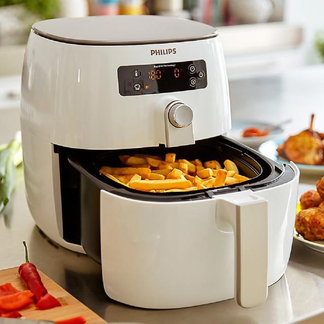 贈煎烤盤+烘烤鍋+噴油罐+食譜 PHILIPS飛利浦 渦輪氣旋健康氣炸鍋 HD9642