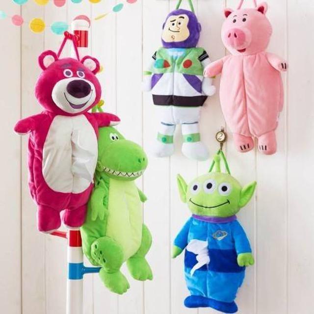 日系人氣可愛玩具總動員火腿豬三眼怪毛絨公系可掛紙巾套