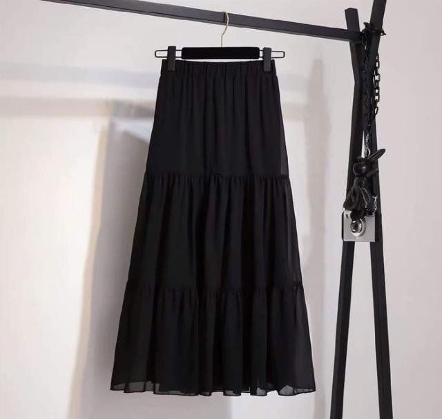 (預購s+) D049-仙女百褶雪紡半身裙