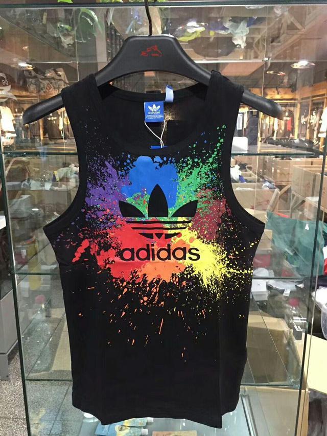 原單 Adidas 潑墨設計運動背心