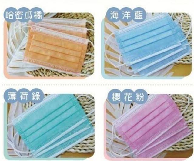 台灣製造-兒童雙鋼印彩色醫x口罩50入(盒裝)