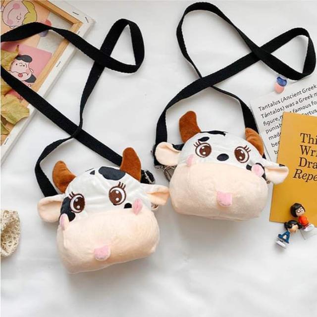 【預購】超可愛乳牛玩偶揹包