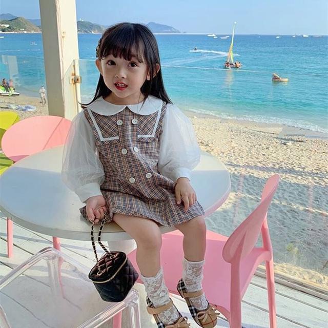 KD06-01 翻領泡泡袖洋裝