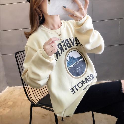 11 流行款 M-2XL 韓版  網紅 加絨印花衛衣(2色)