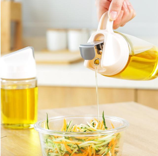 (2入)(顏色隨機)自動開合油醋瓶600ML