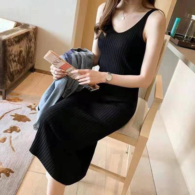 夏季針織連衣裙