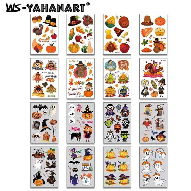 (預購s+) A583-兒童萬聖節紋身貼紙(一組5張)